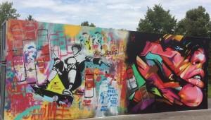 Jižní Město zdobí graffiti malba inspirovaná Los Angeles