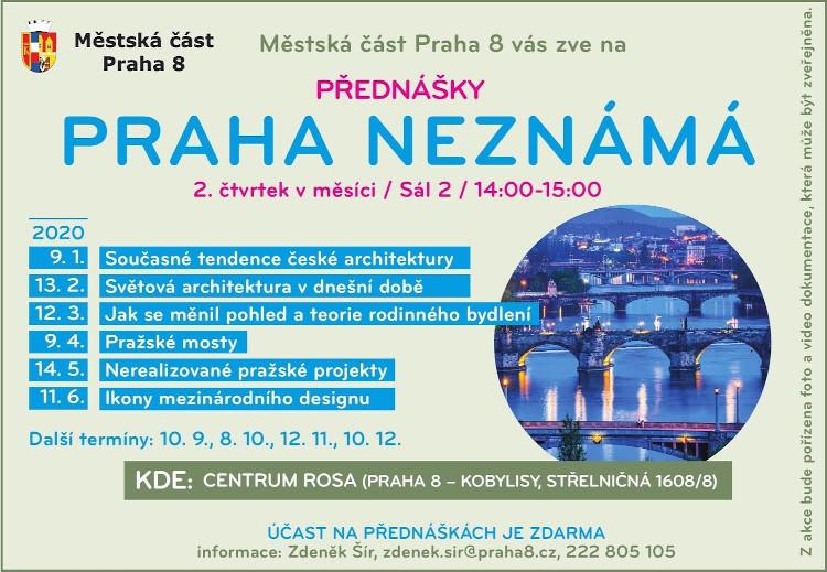 Praha neznámá. Praha 8 zve na přednášku v únoru zdarma