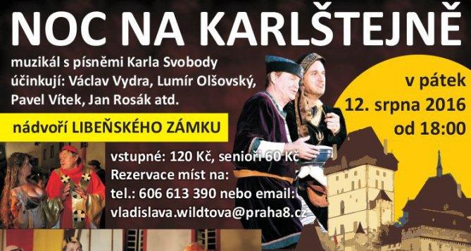 Noc na Karlštejně: Na nádvoří Libeňského zámku